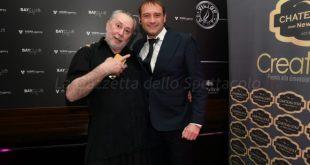 Lele Mora con Gualtiero Maragni del Victory Morgana Bay