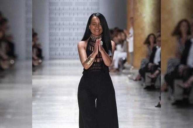 Sabrina Persichino, ospite a L'amore è. Foto da AltaRomaModa inviata da Ufficio Stampa