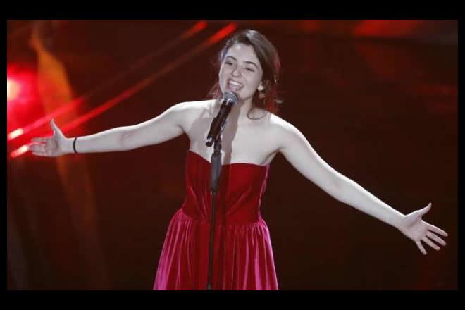 Tecla live al Festival di Sanremo 2020. Foto da Ufficio Stampa