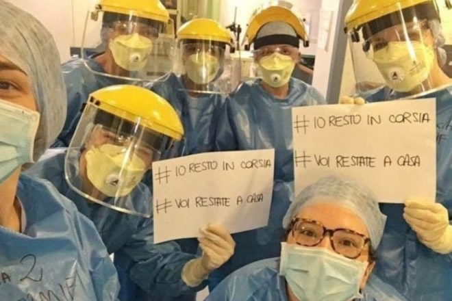 Avvocati pro Dottori ed Operatori Sanitari. Foto dal Web
