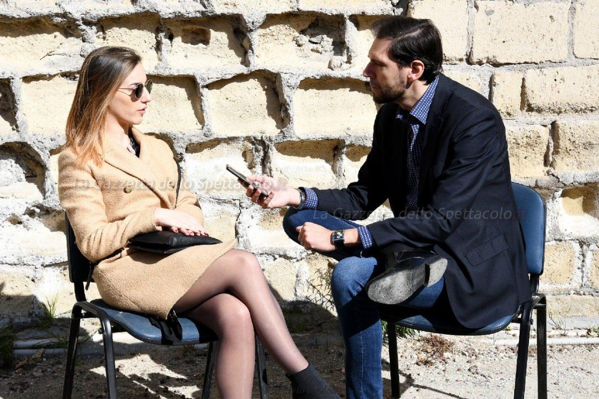 Francesco Russo durante l'intervista a Valeria Angione
