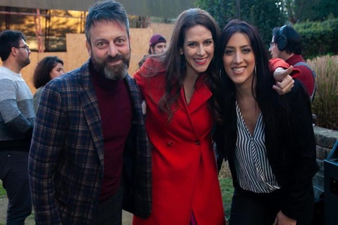 I registi Marco Passiglia e Janet De Nardis con la protagonista Angelica Massera
