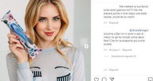 Il post di Chiara Ferragni sui social che ha scatenato i commenti. Screen dal profilo Instagram ufficiale
