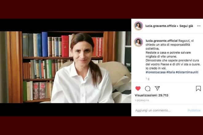 Il profilo Instagram di Lucia Gravante de Il Collegio