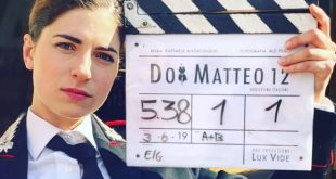 Maria Chiara Giannetta sul set di Don Matteo 12. Foto da Instagram