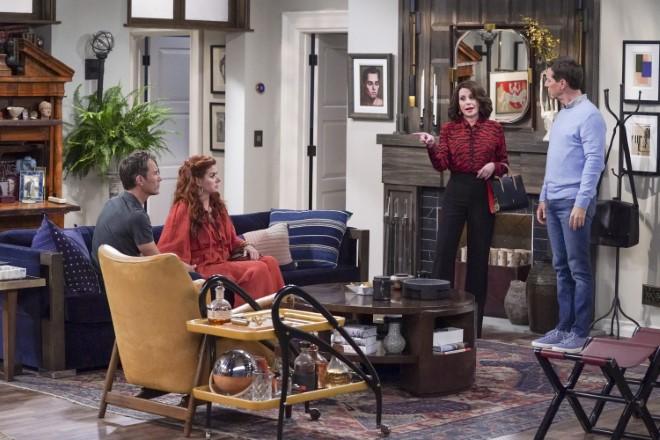 Una scena dell'ultima serie di Will e Grace. Foto 2019 NBCUniversal Media, LLC inviata da Ufficio Stampa