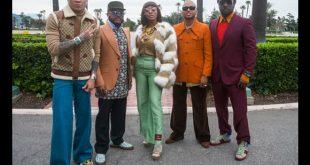Black Eyed Peas con Ozuna e J Rey Soul per Mamacita. Foto di Sterling Hampton
