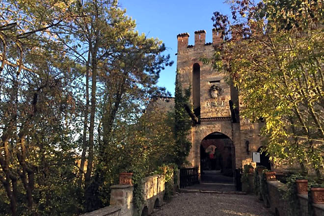 L'ingresso del Castello di Gropparello