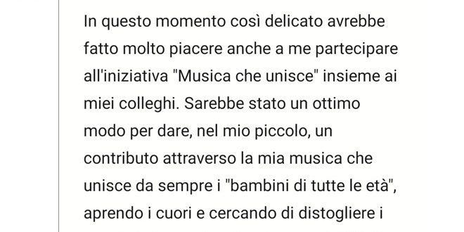 Musica Che Unisce: esclusa Cristina D'Avena