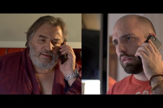 Stefano Ambrogi e Berardino Iacovone (The Cerebros) in un frame di Papà voglio tornare a casa