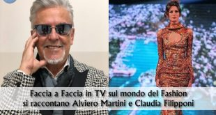 Alviero Martini e Claudia Filipponi nel un faccia a faccia in TV sul fashion post Covid-19