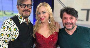 Chiara Sani con Lillo e Greg