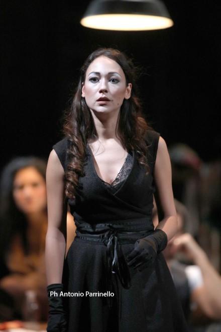 Dajana Roncione in Sei Personaggi in cerca d'autore. Foto di Antonio Parrinello