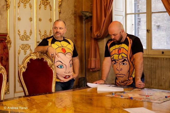Marco Melluso e Diego Schiavo sul set de Il Conte Magico. Foto di Andrea Ranzi