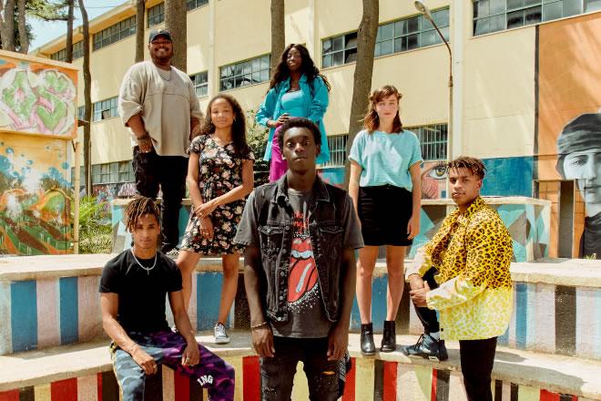 Il cast di Zero per Netflix. Foto da Ufficio Stampa