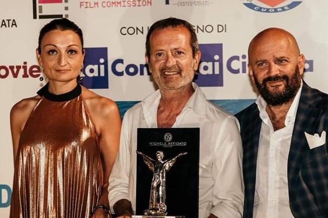 Antonella Caramia, Rocco Papaleo e Nicola Timpone nella passata edizione delle Giornate del Cinema Lucano a Maratea
