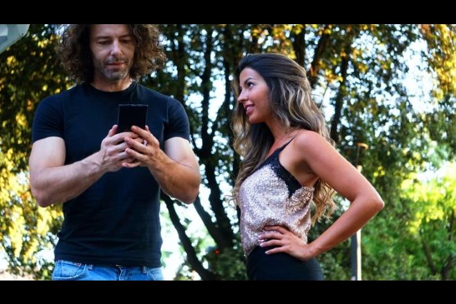 Claudia Conte con Francesco Testi per Social Life