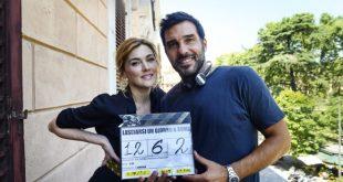 Edoardo Leo con Marta Nieto sul set di Lasciarsi un giorno a Roma