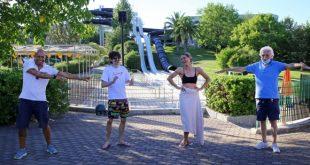 Fabio Rovazzi e Michelle Hunziker ad Aquafan