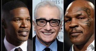 Jamie Foxx, Martin Scorsese e Mike Tyson