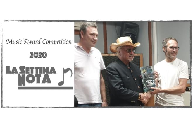 Pietruccio Montalbetti riceve il premio alla carriera Artistica e Letteraria La settima nota 2020