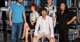 Stefano De Martino con i 4 giudici del Festival di Castrocaro 2020