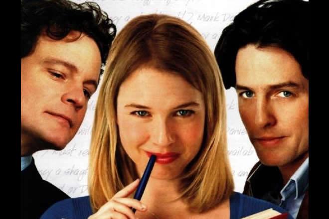 Il Diario di Bridget Jones, dove sono insieme Colin Firth e Hught Grent