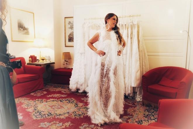 Veronica Rubino (Lollipop) in abito da sposa