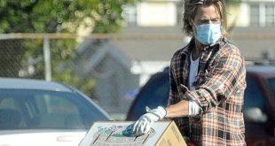 Brad Pitt in incognito per solidarieta. Foto dal Web