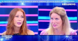 Sabina Vento e Flavia Vento a Domenica Live. Foto dal Web