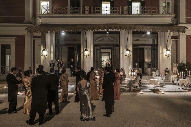 Villa Pignatelli in una scena de Il Commissario Ricciardi. Foto di Anna Camerlingo
