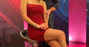 Franco Trentalance Show. Il conduttore con Francesca Agnati