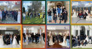 I team in challenge per il Calendario delle Spose