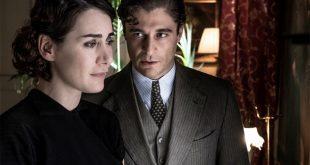 Maria Angela Robustelli con Lino Guanciale in Il Commissario Ricciardi. Foto di Anna Camerlingo