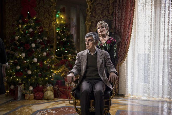 Vincenzo Salemme e Cristina Donadio sul set di Con tutto il cuore