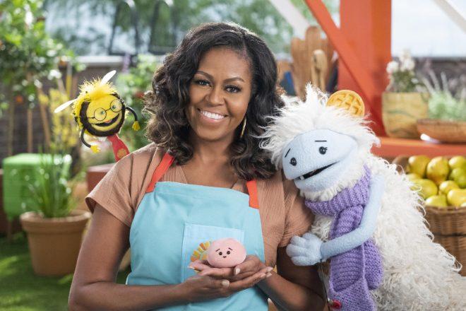 Waffles + Mochi con Michelle Obama. Foto di Adam Rose per Netflix