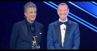 Fiorello e Amadeus per la proclamazione del vincitore di Sanremo 2021