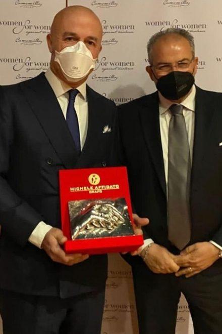 Gianluigi Nuzzi e Michele Affidato per il Camomilla Award