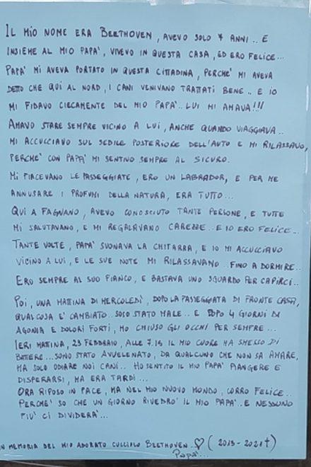 Lettera di Beethoven