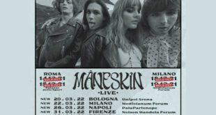 Maneskin tour 2021-22