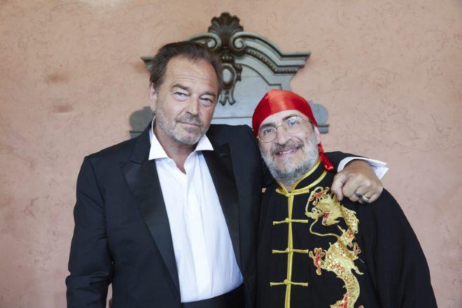 Sebastiano Somma e Carlo Olmo sul set di Lupo Bianco